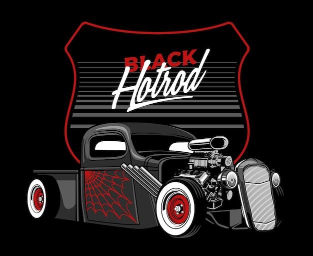 Auto hotrod nera
