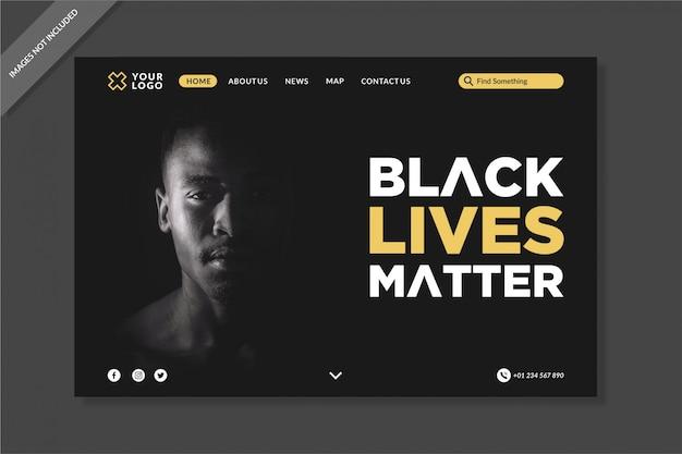 Modello di pagine di destinazione black live matters
