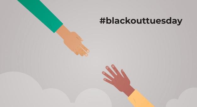 Le vite nere contano due multirazziali che raggiungono la campagna di sensibilizzazione delle mani della corsa contro la discriminazione razziale