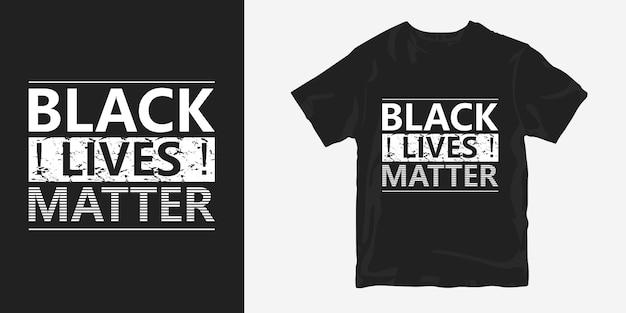 Design di t-shirt con poster di vite nere sulla questione di george floyd