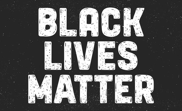 La vita nera è importante