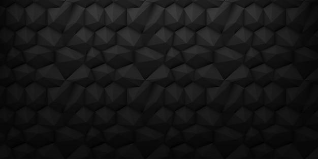 Sfondo nero basso poli 3d diamante