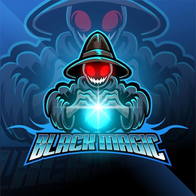 Logo della mascotte esport nero magico