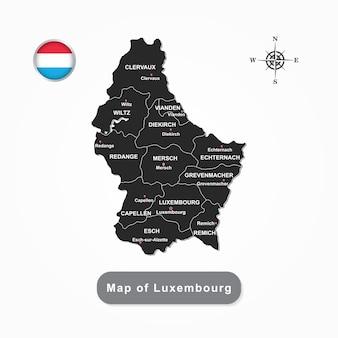 Mappa nera del lussemburgo
