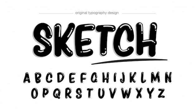 Design tipografico in stile pennarello nero