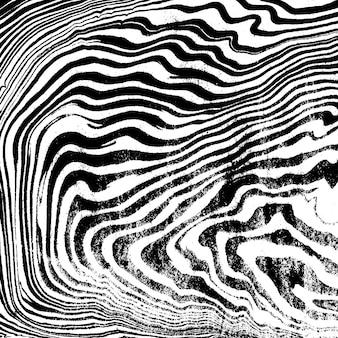 Nero monocromatico pittura ad acqua suminagashi decorazione astratta disegnata a mano sfondo bianco grange texture