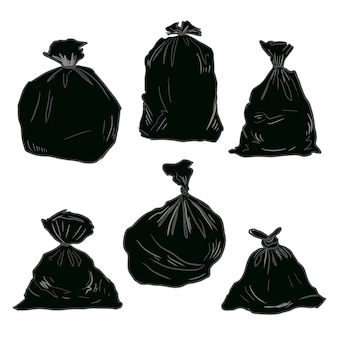 Rifiuti di plastica nera