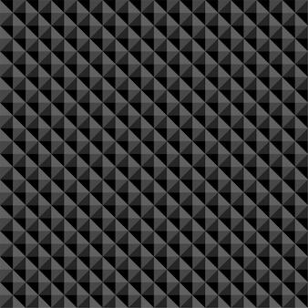 Modello senza cuciture astratto poligonale nero
