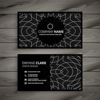 Modello di progettazione di biglietto da visita professionale nero