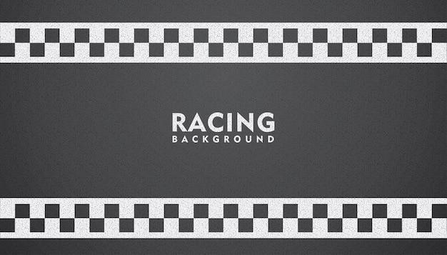 Sfondo nero da corsa, sfondo quadrato da corsa