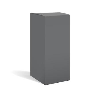 Pacchetto scatola rettangolare nera
