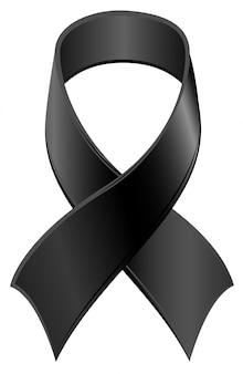 Simbolo del nastro nero giorno del lutto