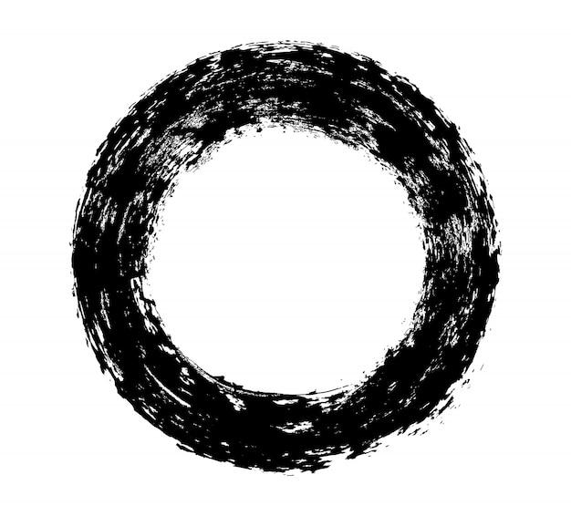 Tratto di vernice rotonda nera