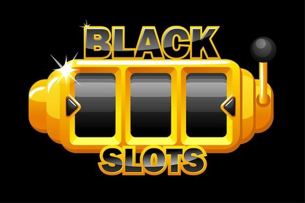 Slot machine nera, modello di gioco d'azzardo per i giochi dell'interfaccia utente