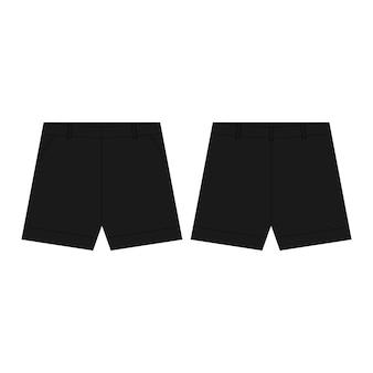Pantaloni neri di shorts di sport isolati. abbigliamento da uomo.