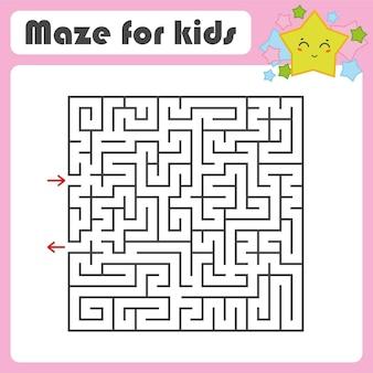 Labirinto quadrato nero