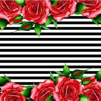 Sfondo di san valentino con strisce nere