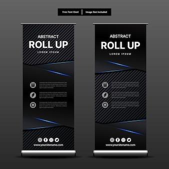 Il modello nero rotola sul disegno astratto. Vettore Premium