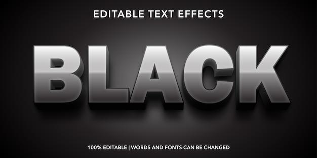 Testo nero effetto testo modificabile in stile 3d