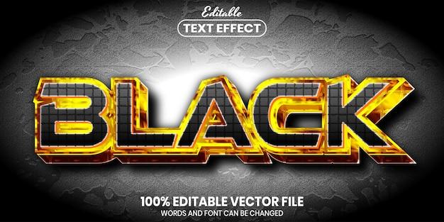 Testo nero, effetto testo modificabile in stile carattere