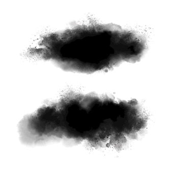 Acquerello nero su sfondo bianco in stile grunge illustrazione vettoriale