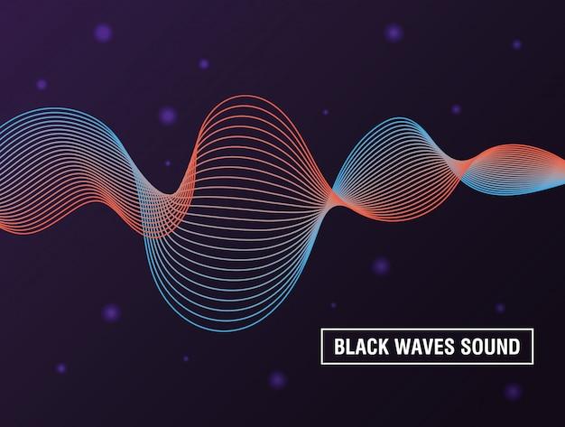 Le onde nere sembrano sfondo viola