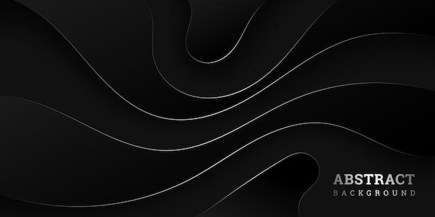 Sfondo nero ondulato