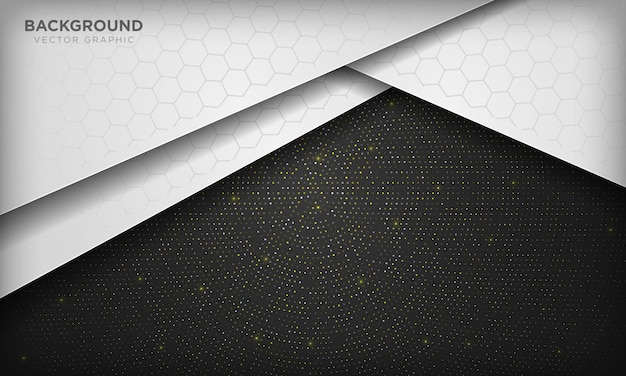 Sfondo bianco e nero su elemento di puntini glitter scintillanti