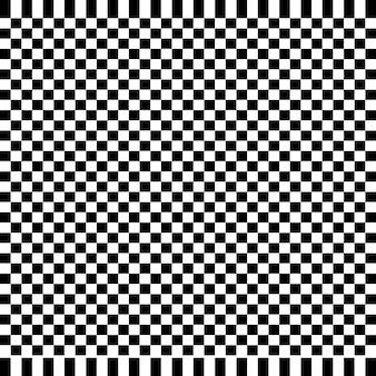 Sfondo astratto a scacchi bianco e nero