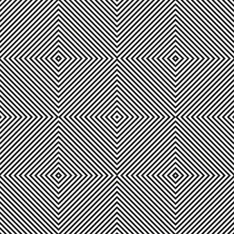 Reticolo di arte quadrata diagonale in bianco e nero.
