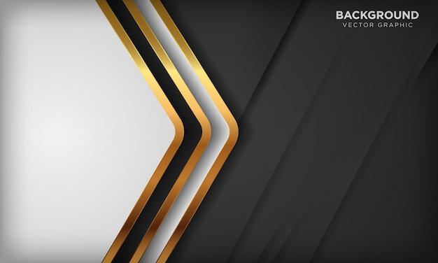 Fondo di forma diagonale dell'oro di lusso in bianco e nero concetto di design moderno ed elegante della carta