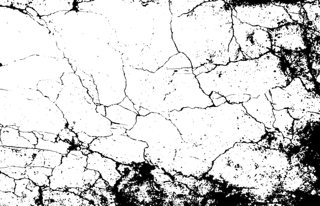 Marmo bianco e nero crepe struttura semplice.