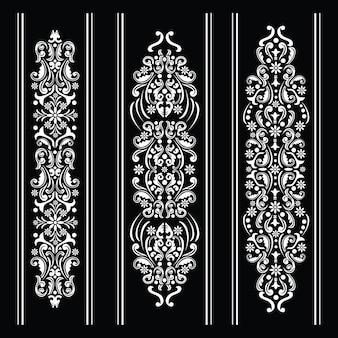 Decorazione ornamentale in bianco e nero