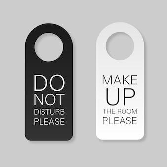 Ganci per serratura della maniglia della porta in carta bianca e nera modello di gancio per porte in plastica