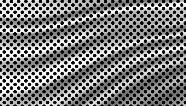Modello di sfondo polkadot in bianco e nero. Vettore Premium