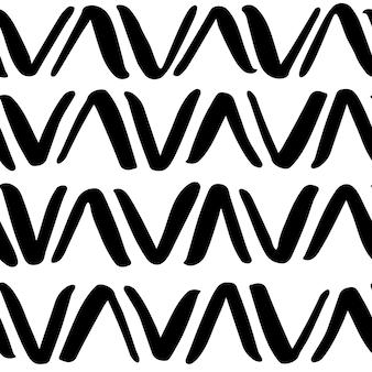 Modello senza cuciture in bianco e nero. illustrazione vettoriale astratta