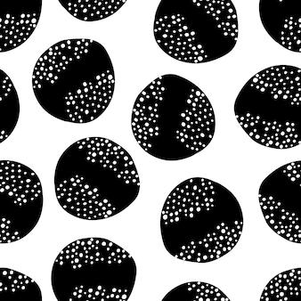 Modello senza cuciture semplice in bianco e nero