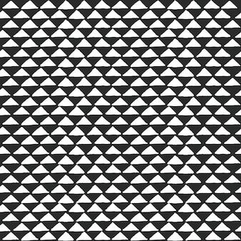 Modello etnico tribale in bianco e nero con elementi triangolari, tradizionale panno di fango africano, disegno tribale