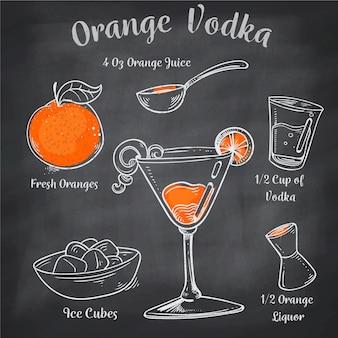 Ricetta cocktail alla lavagna