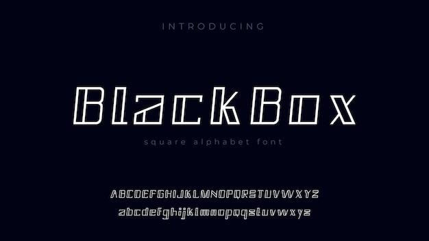 Blackbox alphabet font