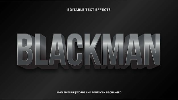 Effetti di testo modificabili blackman