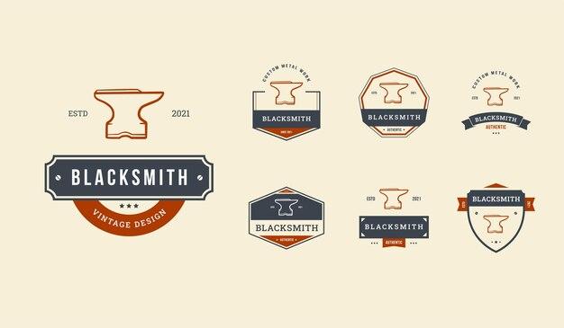 Set logo distintivo fabbro modificabile