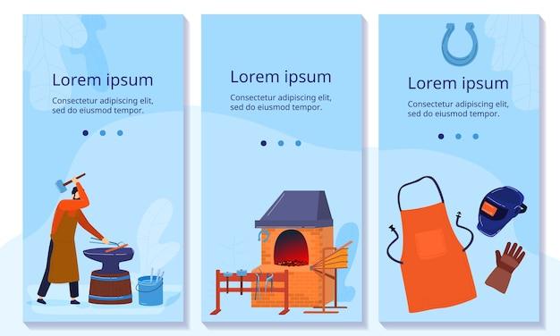 Illustrazione della saldatura del lavoro del metallo del fabbro.