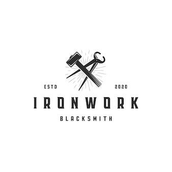 Fabbro strumenti logo template