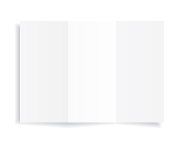 Foglio a4 bianco di carta bianca con ombra.