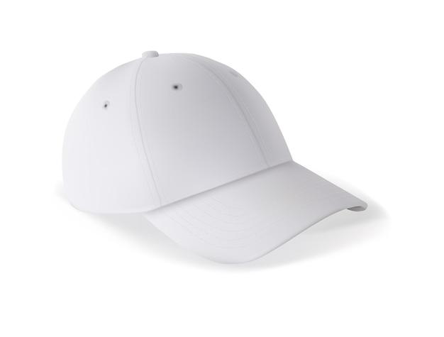 Modello di mockup di berretto da baseball vuoto per il marchio su bianco