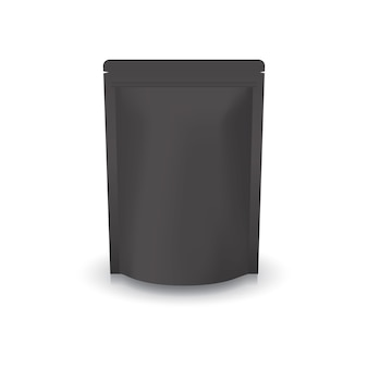 Borsa in bianco nera con chiusura a zip.