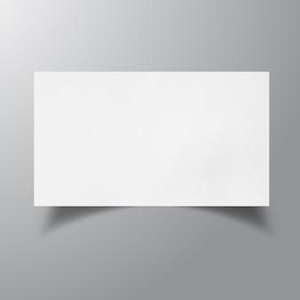 Mockup di biglietto da visita in bianco