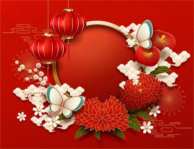 Sfondo bianco nuovo anno cinese