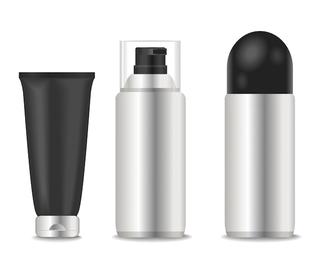 Deodoranti vuoti e tubi di schiuma